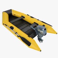 3d boat inflatable model