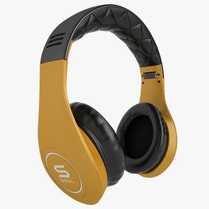 3d model soul headphones ludacris