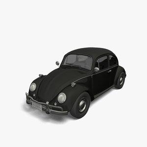 volkswagen beetle 3d obj