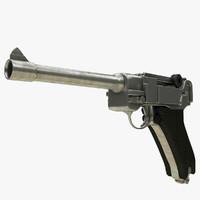 3d model realistic luger