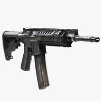 assault rifle barret rec7 3d obj