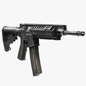 assault rifle barret rec7 3d obj