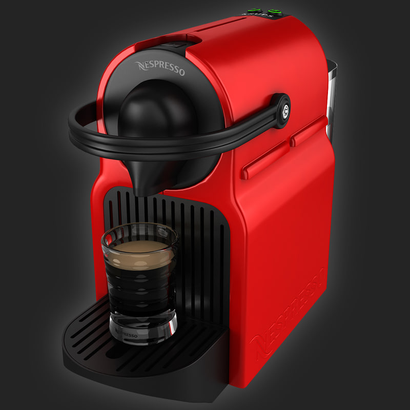 coffeemaker nespresso inissia krups 3d 3ds. Black Bedroom Furniture Sets. Home Design Ideas