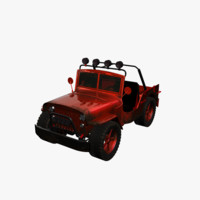 jeep custom 3d model