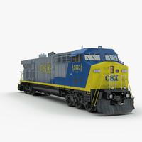 3d model american cw60ac locomotive