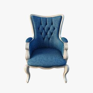 3d model giusy armchair keoma