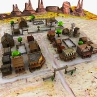 Cartoon Western Town