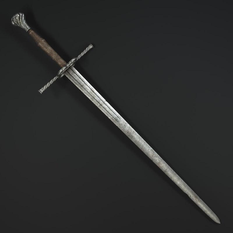 german sword 3d obj