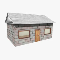 soweto tiny house brick c4d