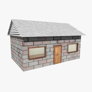 soweto tiny house brick c4d