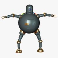 3dsmax gray robot