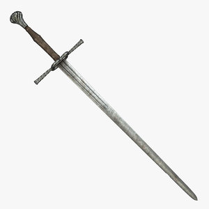 german sword 3d obj