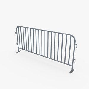 crowd control barrier 3d model
