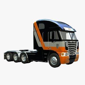 freightliner argosy tridrive truck 3d lwo