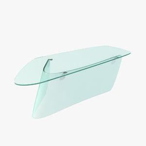 graph glass table 3d model