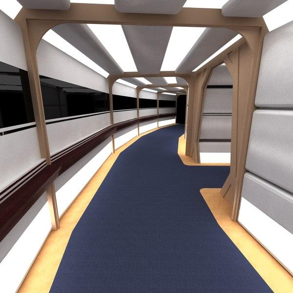 3d set corridors enterprise d model