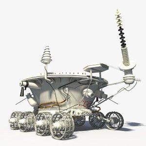 lunokhod ussr 1 lunar rover 3d model