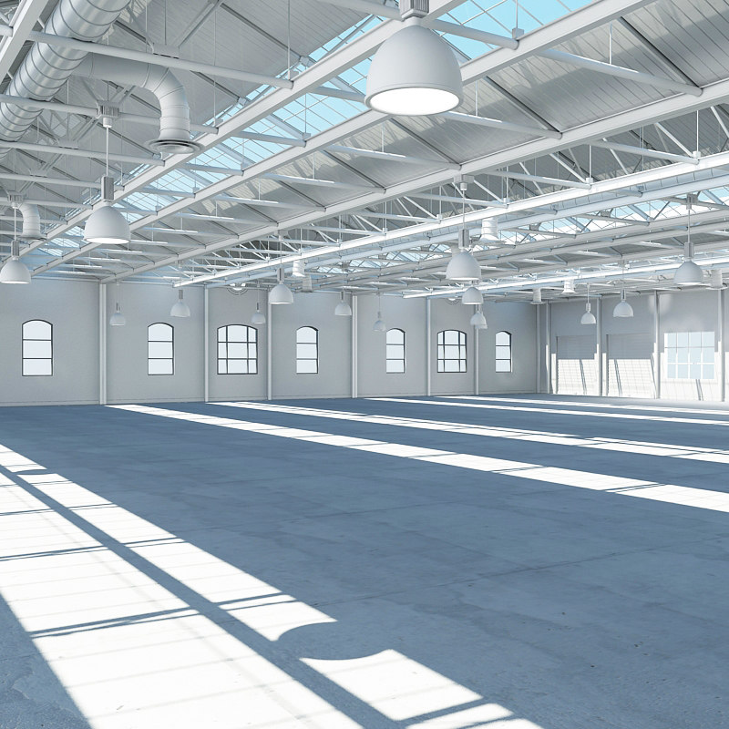 3dsmax large warehouse interior 2014
