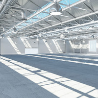 3ds max large warehouse interior