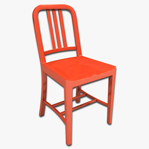 cafe chair 3d 3ds