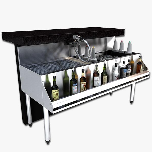 cocktail station 3d model