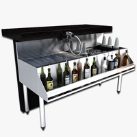 cocktail station 3d model