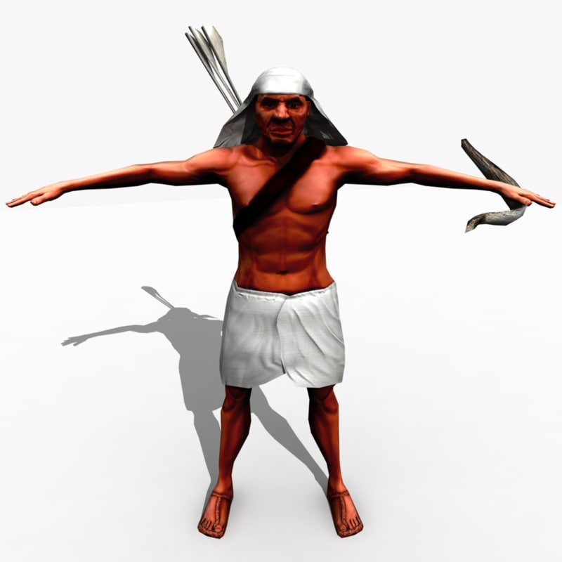 egyptian archer rigged x
