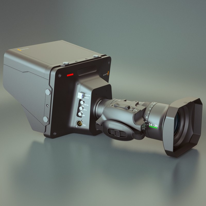 3d photoreal studio camera blackmagic
