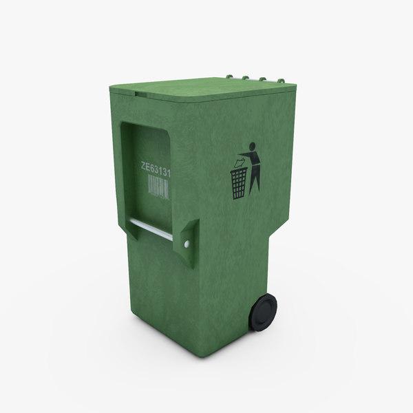 trash dumpster 3d max
