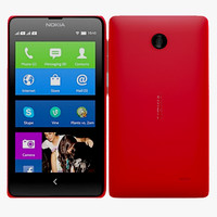3d nokia x red model