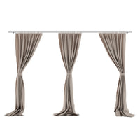 Beige Triple Curtains