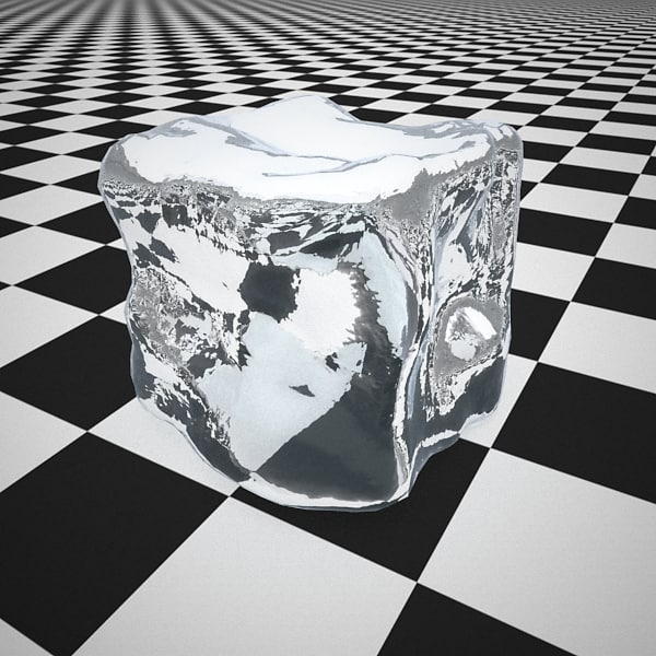 3d model realistic ice cube