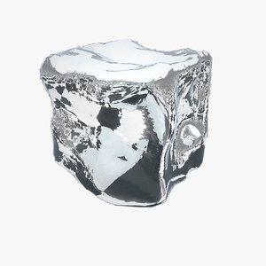 3d model realistic ice cube