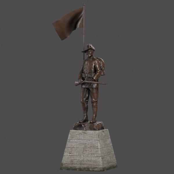 3d soldier statue