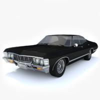 3d 1967 chevrolet impala