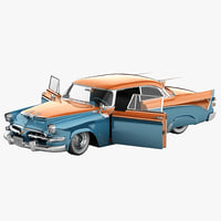 Dodge Royal Golden Lancer 1956 2 Rigged Plus