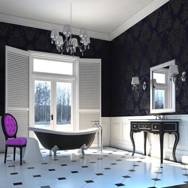 3dsmax scene glamour bathroom
