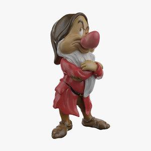 3d grumpy dwarf model