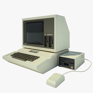 apple 2 computer 3d 3ds