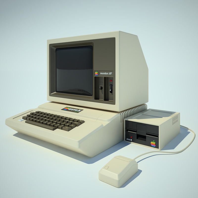 apple 2 computer 3d 3ds