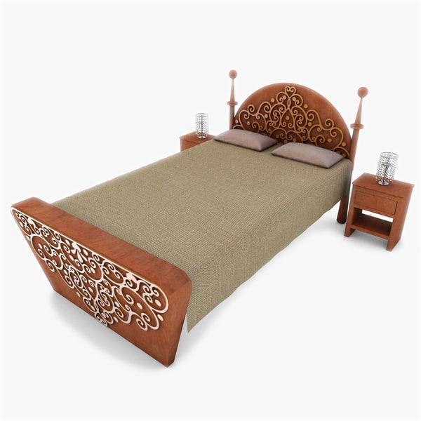 3d model of classic bed