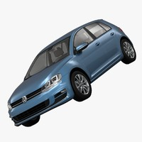 3ds max volkswagen golf 5-door