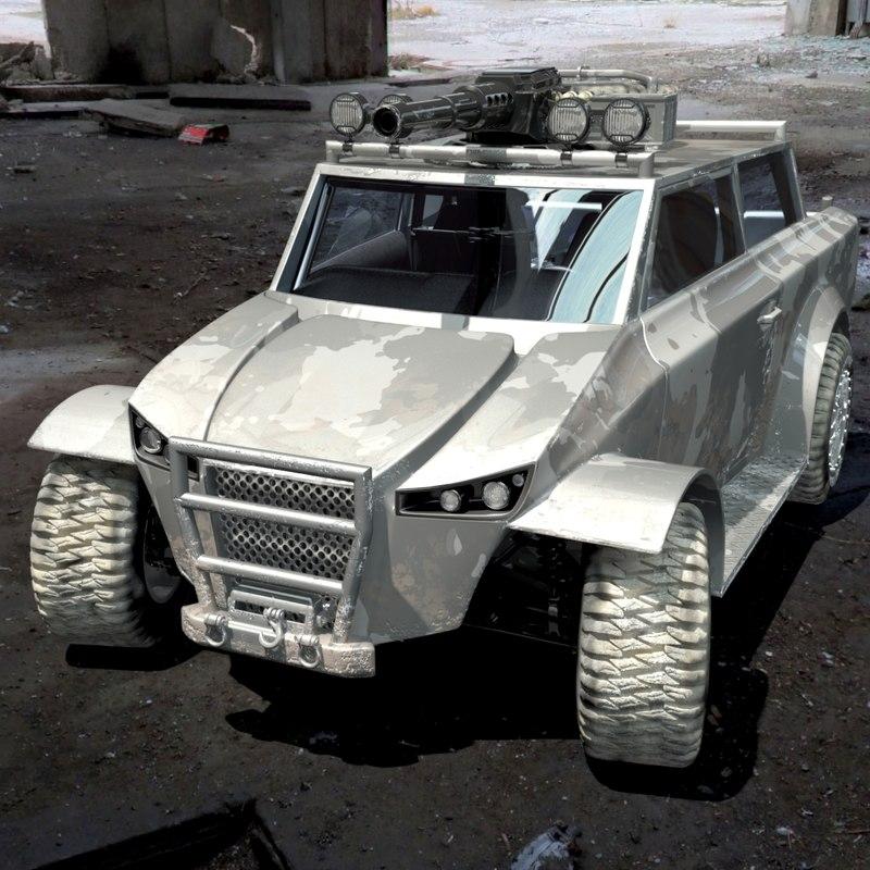 dystopia resistance light assault 3d model