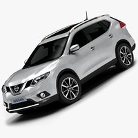 2014 nissan x-trail interior 3d model