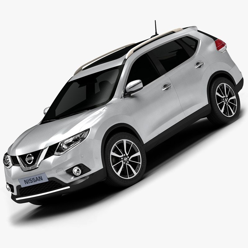Interior Design Nissan X Trail: 2014 Nissan X-trail Interior 3d Model