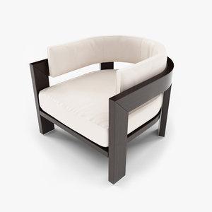 3ds max minotti warhol armchair