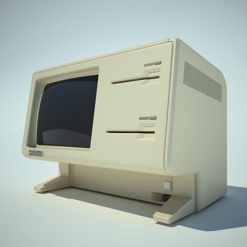 3d apple lisa computer model