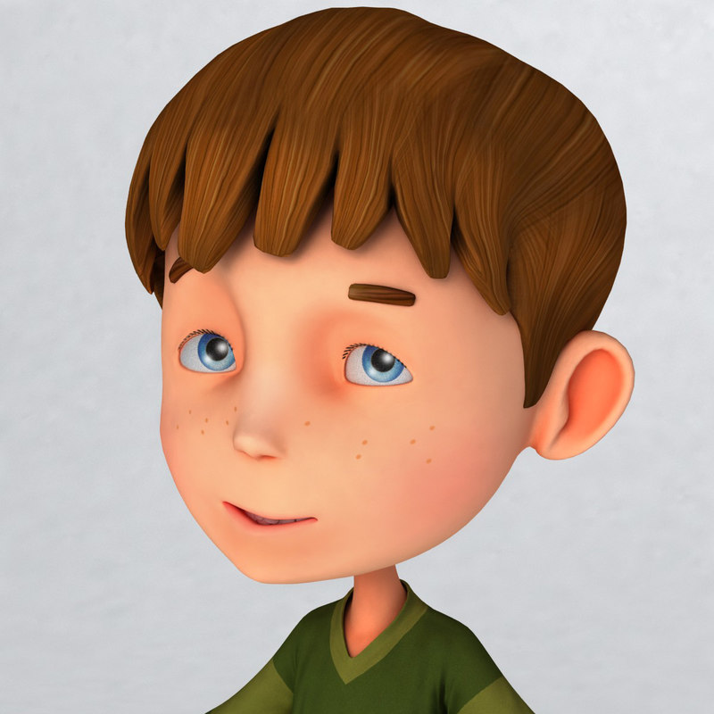 3d model cartoons boy steve