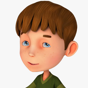 3d model cartoons boy steve