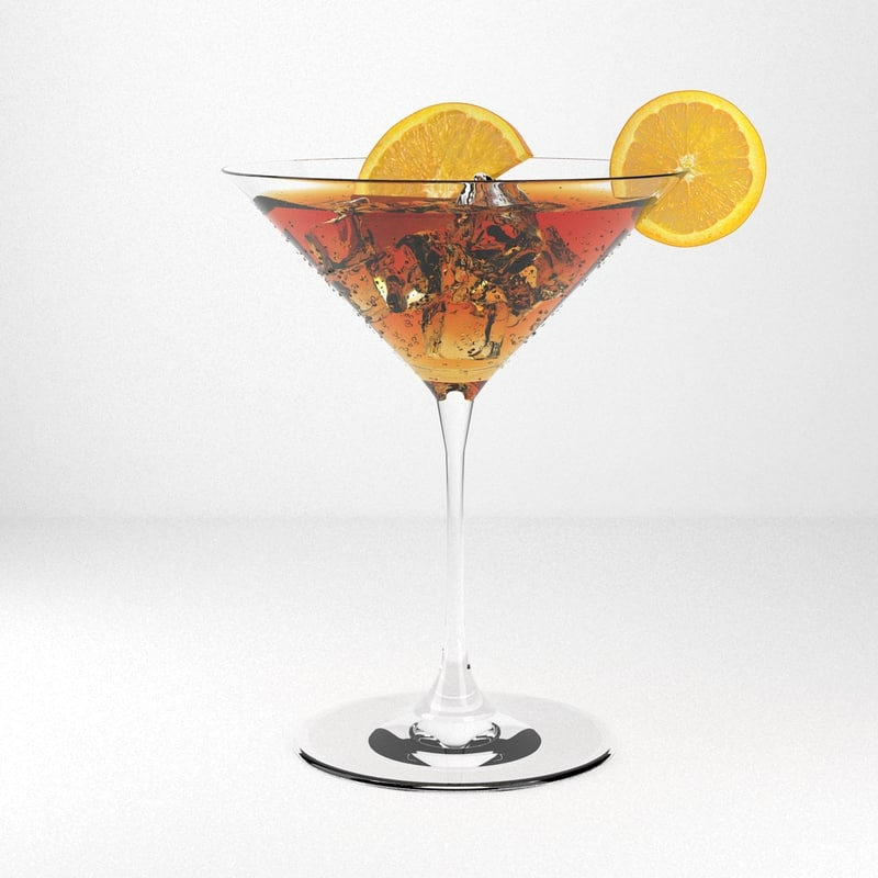 3d model cocktail realistic